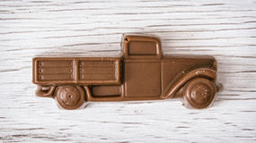 Little chocolate retro pickup truck Stock Photos