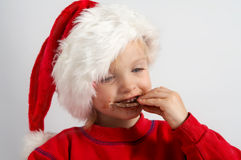 Little chocolate Santa Stock Photo