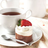 Little chocolate vanilla cake Royalty Free Stock Photography