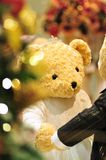 Little during christmas. Ms bear celebrate christmas with you Royalty Free Stock Images