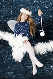 Little christmas angel Stock Photos
