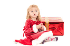 Little christmas baby-girl royalty free stock photos