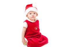 Little christmas baby girl Royalty Free Stock Images