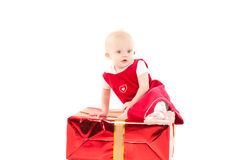 Little christmas baby-girl Royalty Free Stock Photography