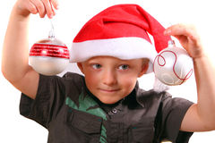 Little Christmas Boy Royalty Free Stock Photography