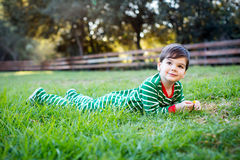 Little Christmas boy Stock Photos