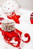 Little Christmas decoration sledge Stock Images