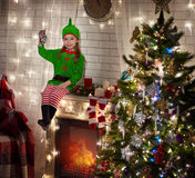 Little christmas elf Royalty Free Stock Photography