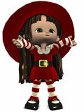 Little Christmas Elf-Toon Figure Royalty Free Stock Photos