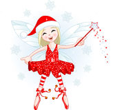 Little Christmas fairy Stock Photo