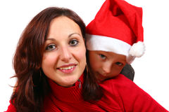 Little Christmas Family Royalty Free Stock Photos