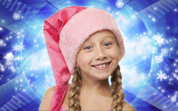 Little christmas girl Royalty Free Stock Photo