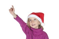 Little christmas girl Royalty Free Stock Image