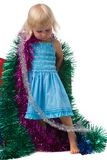 Little Christmas girl royalty free stock images
