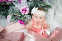 Little christmas girl Stock Photo