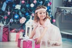 Little christmas girl Royalty Free Stock Photography