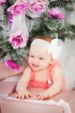 Little christmas girl Stock Image