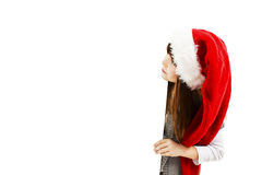 Little christmas girl presenting Royalty Free Stock Photos