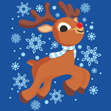 Little Christmas reindeer Stock Image