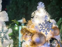 The little christmas tree with the nice decoration of the ball, Stock Photos