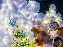 The little christmas tree with the nice decoration of the ball, Stock Photography