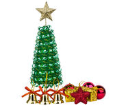 Little Christmas tree and other decorations Stock Photography