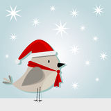 Little christmass bird. Vector illustration of little christmass bird Stock Photos
