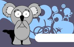 Little chubby koala cartoon expression background Stock Images