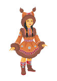 Little Chukchi girl Royalty Free Stock Photos