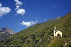 Little church. A little church on italian alps Royalty Free Stock Images