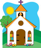Little Church. Quaint little church in a field Royalty Free Stock Photo