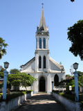 Little church. Located in the island of Paqueta, Rio de Janeiro, Brasil royalty free stock photography