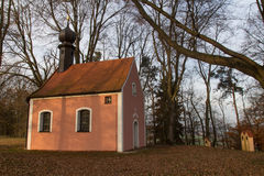 Little church in autumn Royalty Free Stock Photography