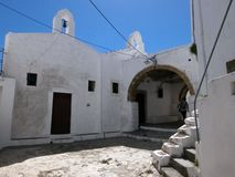 Chora capital of Skyros island, northern Aegean, Greece. Little church in Chora. Chora is the main village and the capital of the small island of Skyros, in stock images