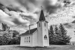 Little church. Little country church in black and white Stock Photography