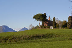 Little Church in the countryside. Inverigo province of Como, Lombardy Italy, March 2014 Royalty Free Stock Photo