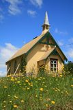 Little Church among Flowers Royalty Free Stock Photography