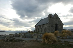 Little church of the good shepherd. Church of the good sepherd in tekapo new zealand Royalty Free Stock Photos