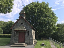 Little church at a hill. In Monschau Germany Stock Photos