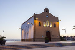 Little church in Isla Plana, Spain Royalty Free Stock Image