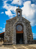 Little church on the island Gastelugache, Basque Country, Spain Royalty Free Stock Images