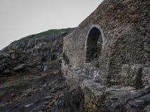 Little church on the island Gastelugache, Basque Country, Spain Stock Photography