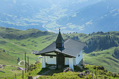 Little church on Kitzbuhel peak,Tirol,Austria Royalty Free Stock Photos