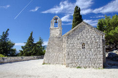 Little church on Mount Marjan in Split Royalty Free Stock Photo