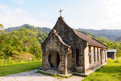 A little Church in the Mountains Stock Photos