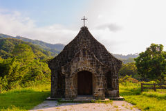 A little Church in the Mountains Stock Photo