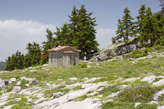 Little Church on Parnassos Mountain Royalty Free Stock Photography