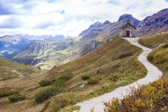 Little church on the Passo Pordoi Royalty Free Stock Photography