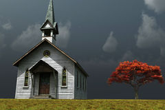Little Church on the Prarie Royalty Free Stock Photography