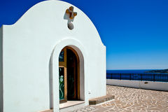 Little church in Rhodes ,Greece Royalty Free Stock Photo